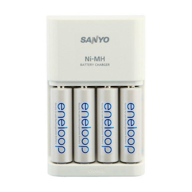 Зарядное устройство SANYO eneloop MQR06-E-4-3UTGB + 4 аккум. AA 2000 mAh
