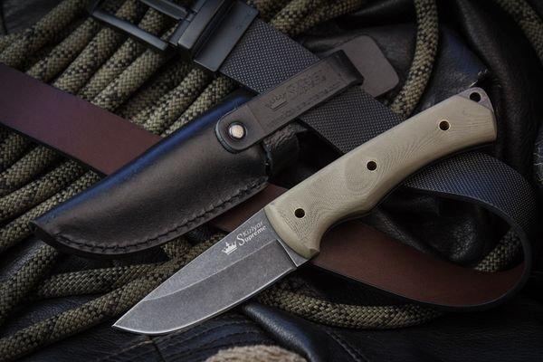 Нож Kizlyar Supreme Kid 440C Stonewash