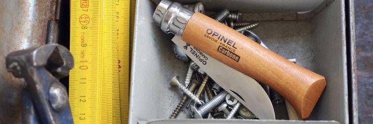 Нож Opinel №6, углеродистая сталь, рукоять из дерева бука, блистер
