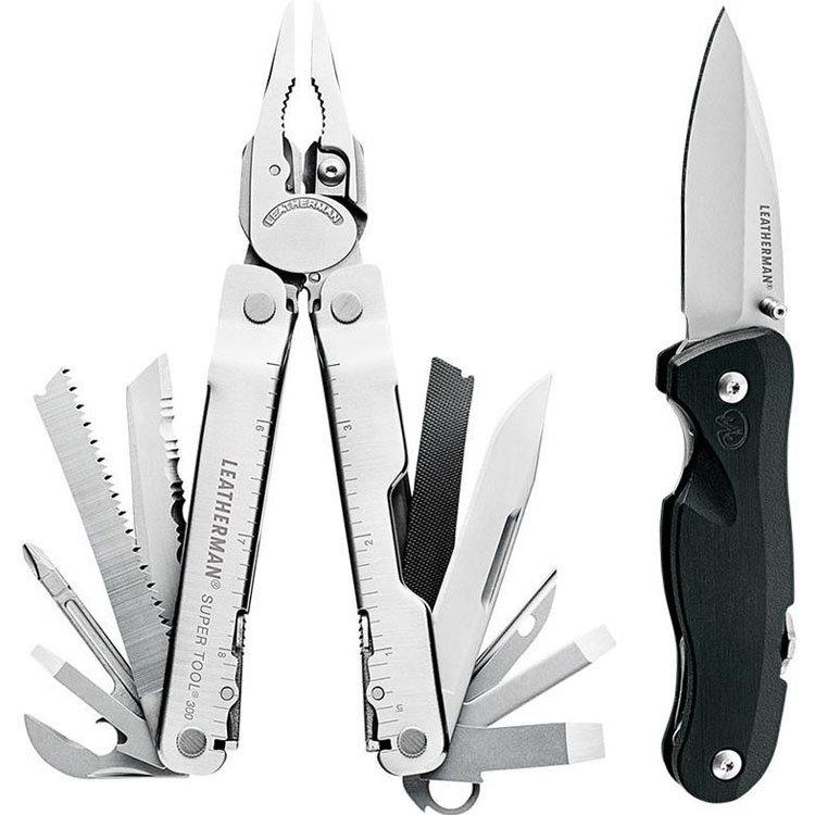 Набор мультиинструмент Leatherman Super Tool 300 + нож Crater С33