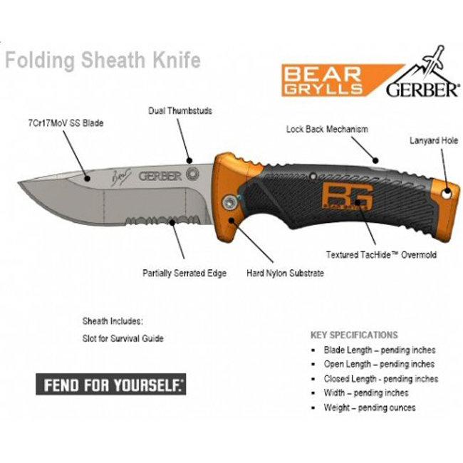 Нож Gerber Bear Grylls Folding Sheath Knife, блистер вскрытый