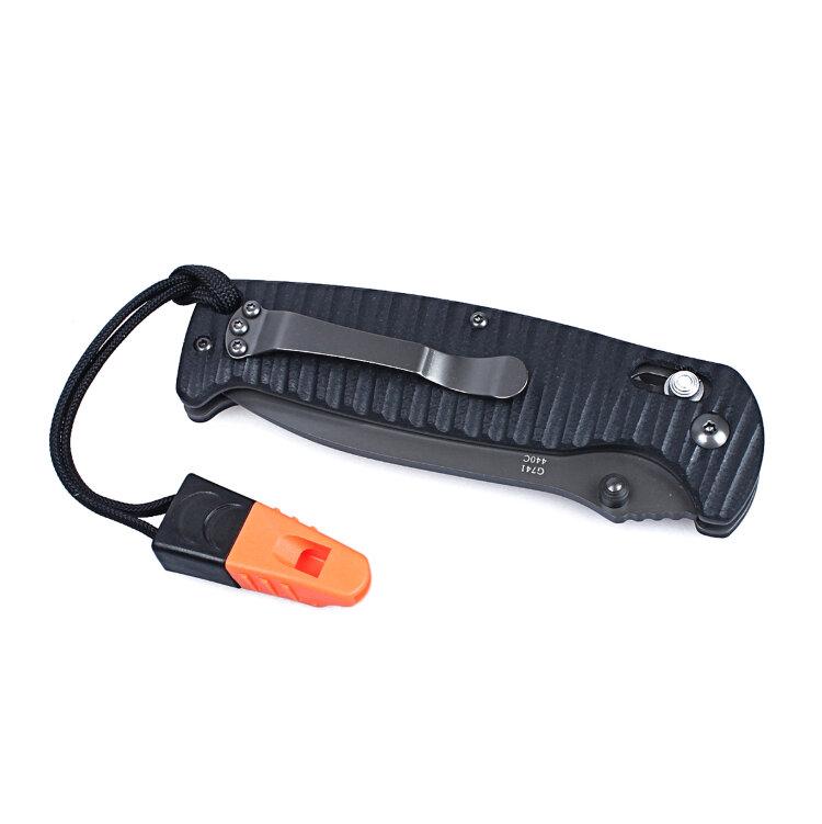 Нож Ganzo G7413P-WS (черный, оранжевый)