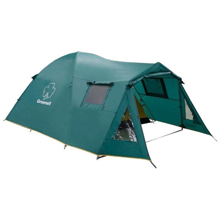 Палатка Greenell Велес 4 V2, зеленая (25503-303-00)