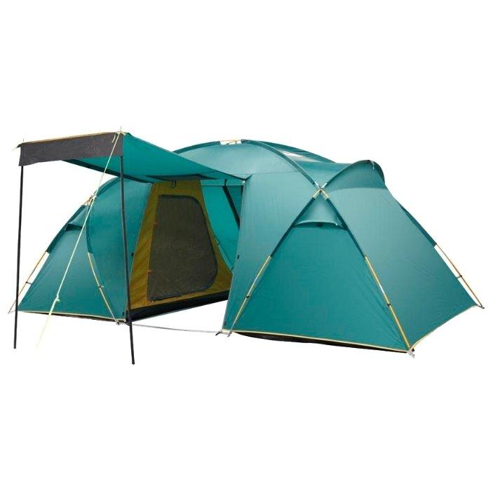 Палатка Greenell Виржиния 4 V2, зеленая (25533-303-00)