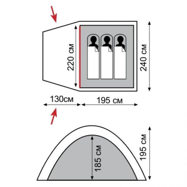 Палатка Tramp Bell 3, TRT-069.04