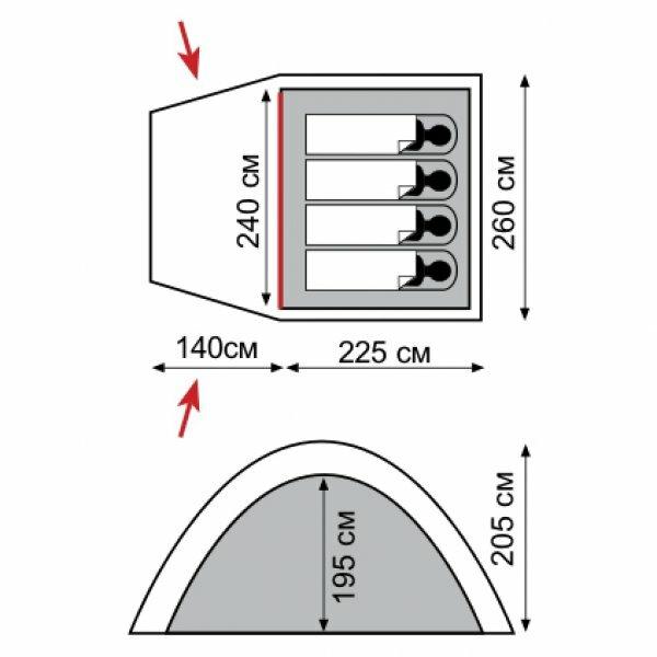 Палатка Tramp Bell 4, TRT-070.04