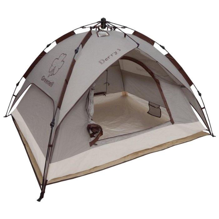 Палатка Greenell Дерри 3, коричневая (95731-230-00)