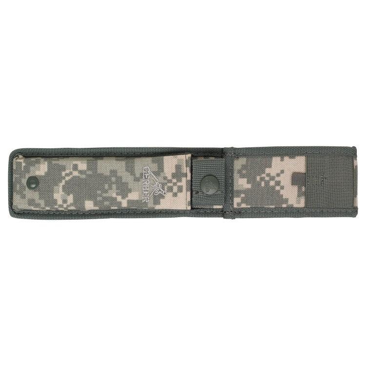 Нож Gerber Warrant, Tanto, Black Blade & Handle, Camo Nylon Sheath, блистер, 31-000560