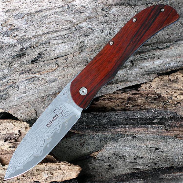 Складной нож Boker Exskelibur I Damascus Cocobolo, BK01BO222DAM
