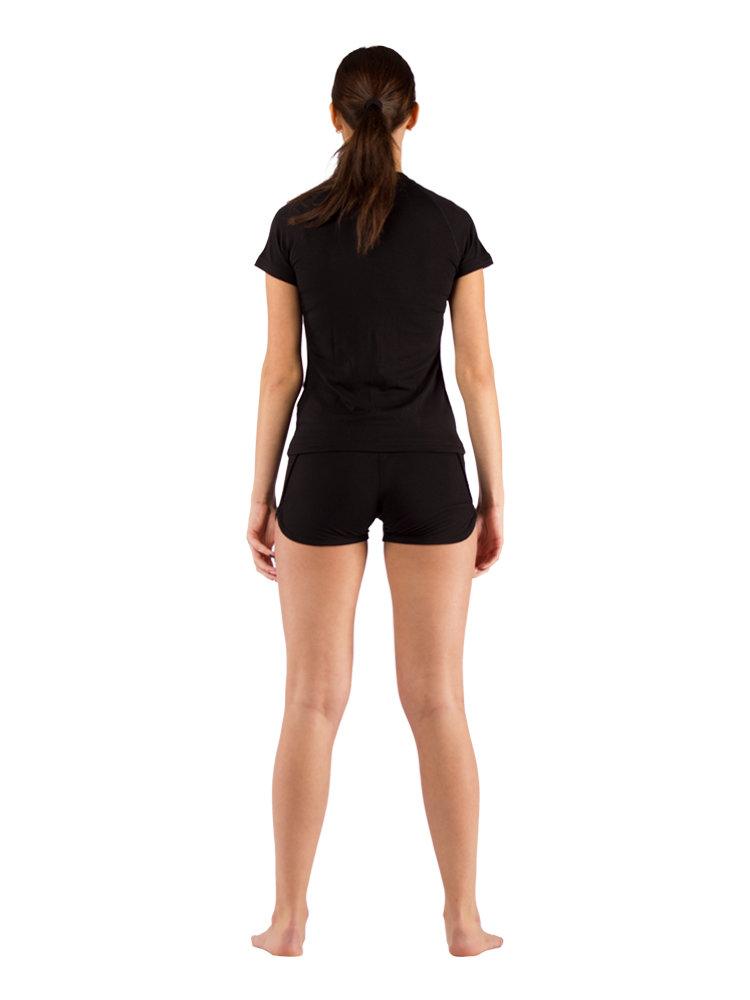 Комплект женского термобелья Lasting, черный - футболка ATEA и шорты BOBINA