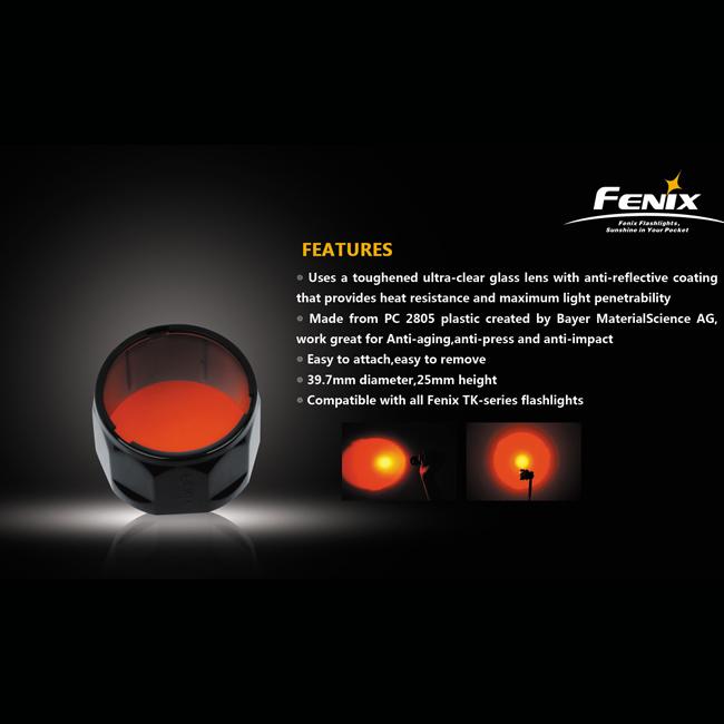 Фильтр красный AD302-R для Fenix TK