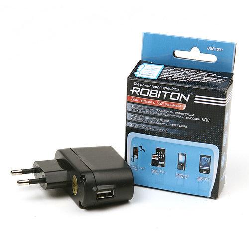 Блок питания Robiton с USB выходом 5В, 1000мА