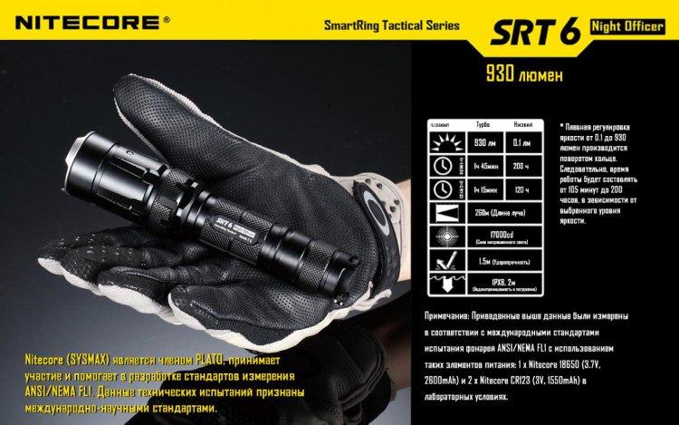 Фонарь Nitecore SRT6