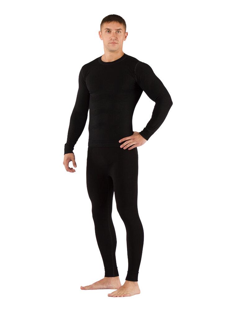 Комплект мужского термобелья Lasting, черный - футболка Vivek и штаны Vektor