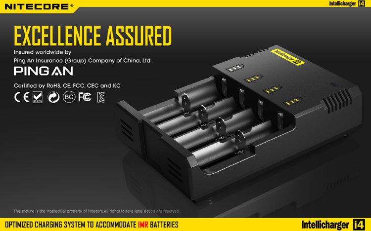 Зарядное устройство Nitecore I4 V2