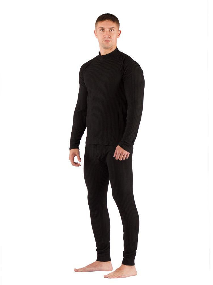 Комплект мужского термобелья Lasting, черный - футболка SWU и штаны JWP