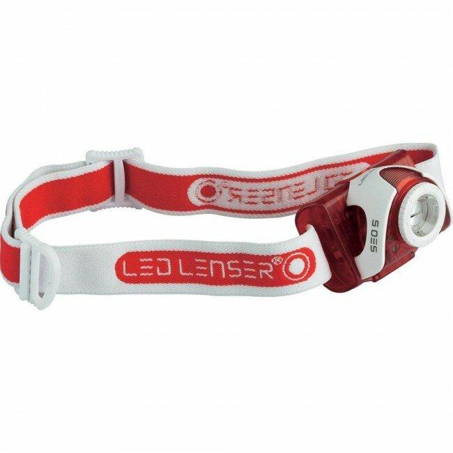 Фонарь Led Lenser SEO 5 (серый, красный)