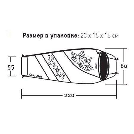 Спальный мешок Nova Tour Сахалин 0 V2 левый, голубой (95424-426-Left)