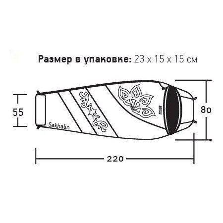 Спальный мешок Nova Tour Сахалин 0 V2 правый, голубой (95424-426-Right)