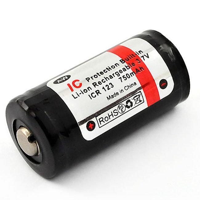 Аккумулятор 16340 (CR123) 750mAh AW с защитой
