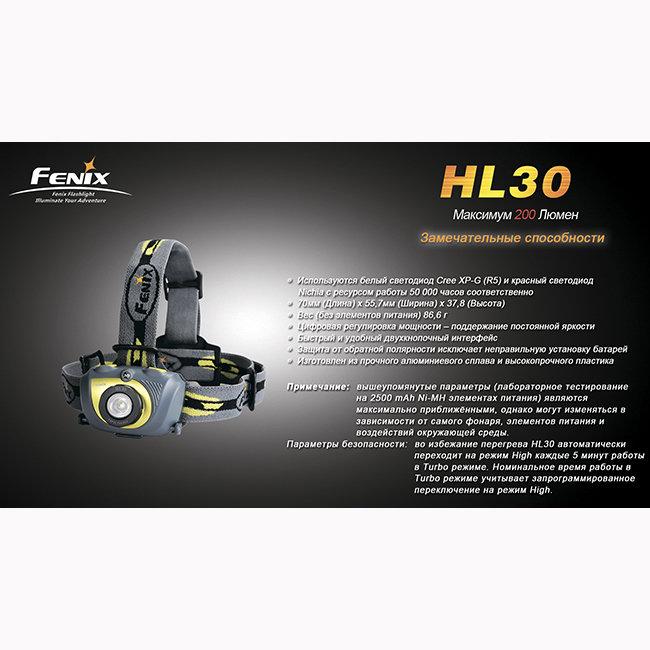 Фонарь Fenix HL30 Cree XP-G (R5)