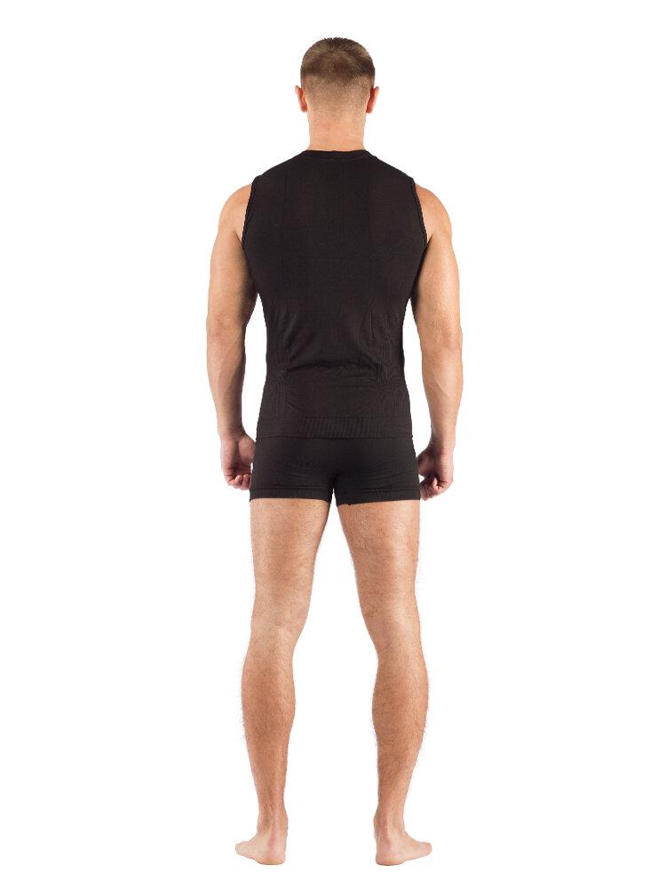 Комплект мужского термобелья Lasting, черный - футболка Achile и шорты Adam