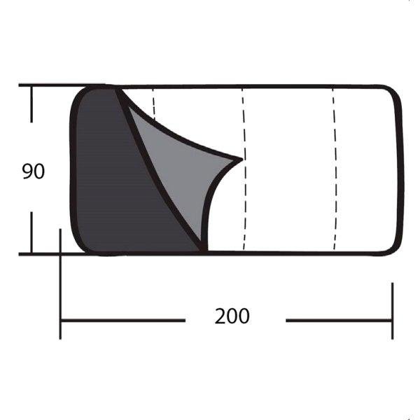 Спальник Greenell Тори левый, зеленый (95457-325-Left)