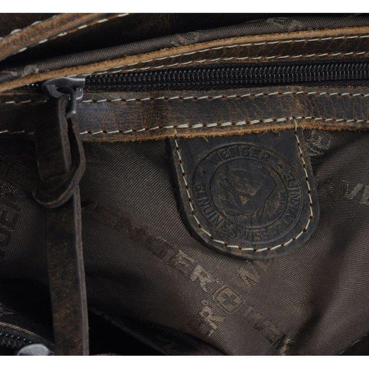 Сумка наплечная горизонтальная Wenger Arizona, коричневая, (W23-02Br)