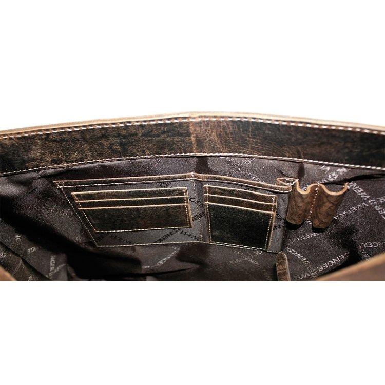 Сумка наплечная горизонтальная Wenger Arizona, коричневая, (W23-01Br)