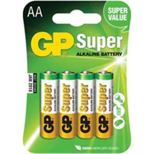 Батарея питания GP LR06 15A Super Alkaline 4шт