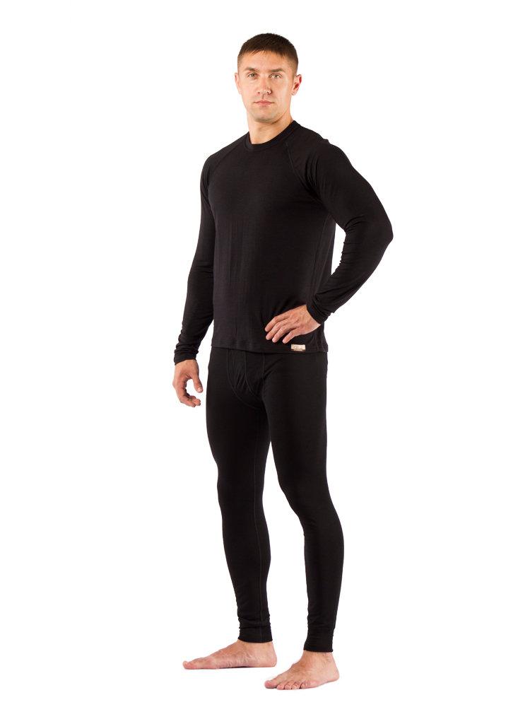 Комплект мужского термобелья Lasting, черный - футболка Atar и штаны Atok