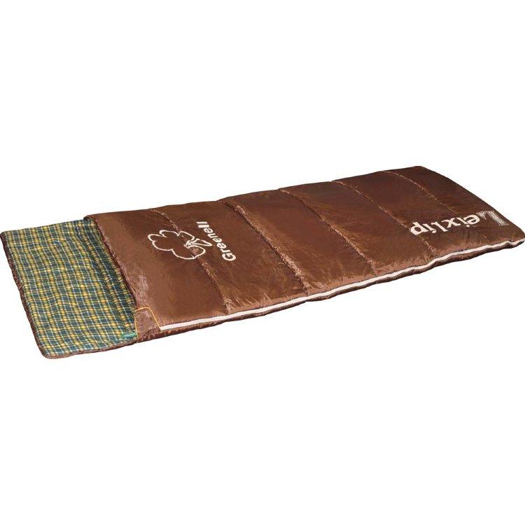 Спальный мешок Greenell Лейкслип левый, коричневый (34023-224-Left)