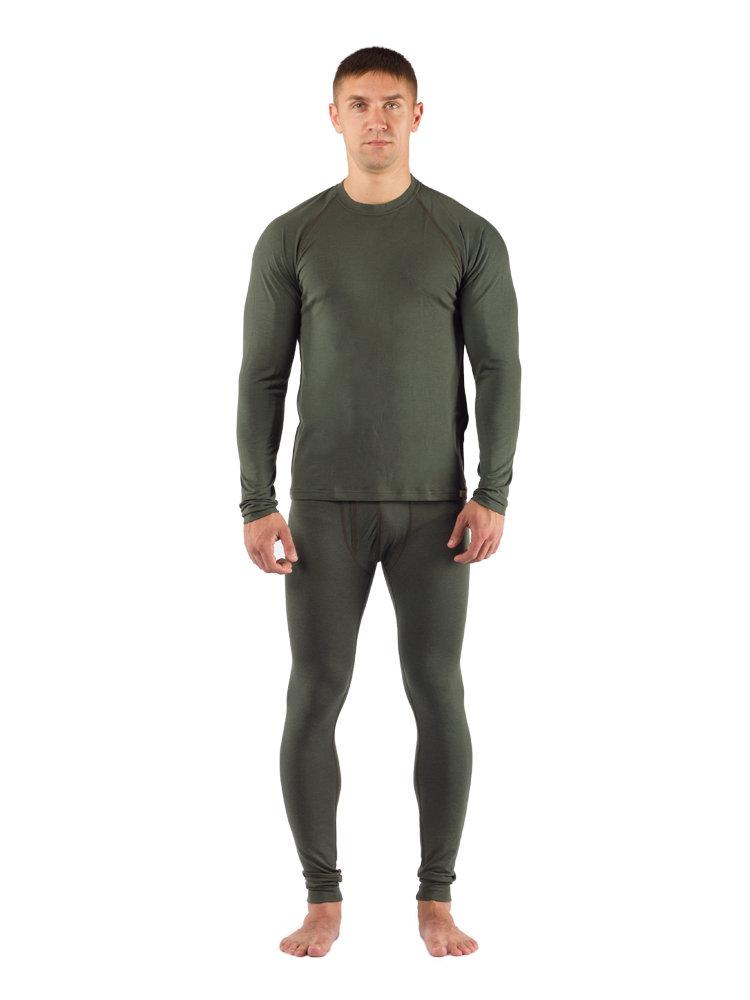 Комплект мужского термобелья Lasting, зеленый - футболка Atar и штаны Atok