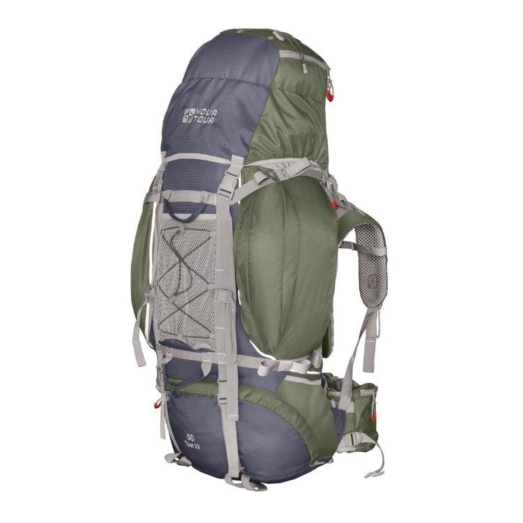 Рюкзак Nova Tour Тибет 80 V2 серый/зеленый (11183-350-00)