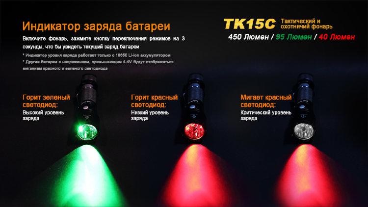 Тактический фонарь Fenix TK15C Cree XP-G2 R5