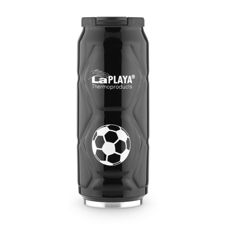 Термокружка LaPlaya Football Can, 0.5 л (белая, черная)