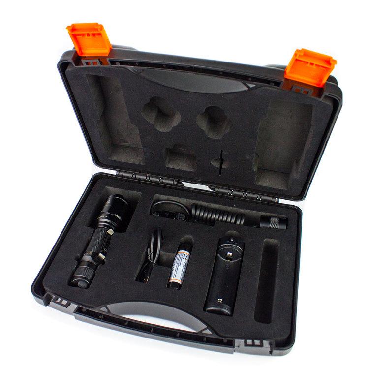 Набор: тактический фонарь Fenix TK16 + ARB-L2-2600 + ARE-X1+ AER-03
