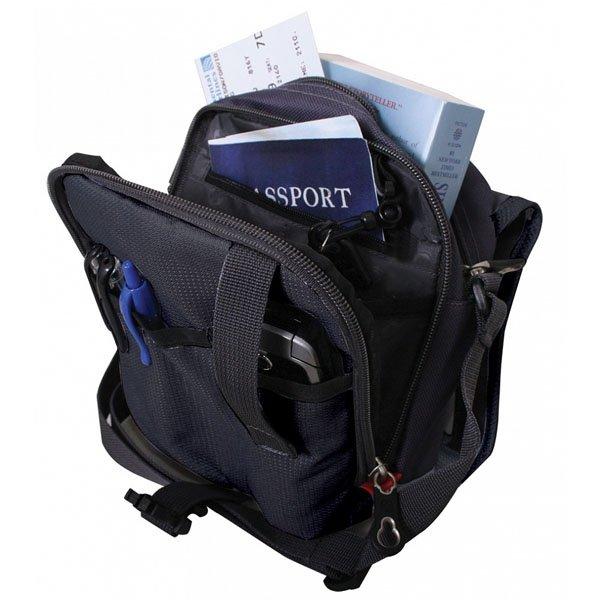 Сумка Wenger Mini Boarding Bag, дорожная, для документов, черный/серый (1092239)
