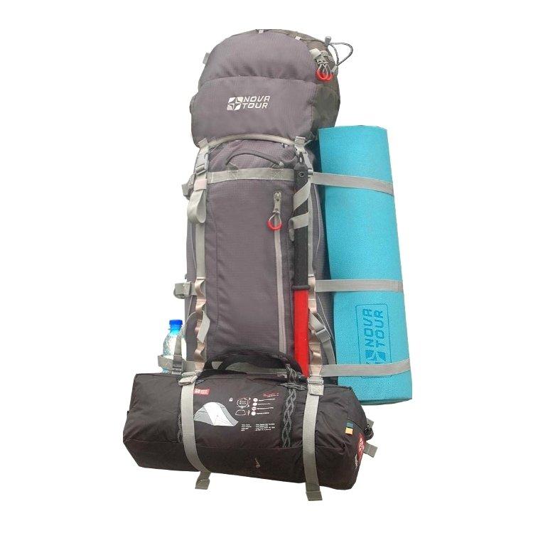 Рюкзак Nova Tour Юкон 115 V2 серый/терракотовый (11213-250-00)