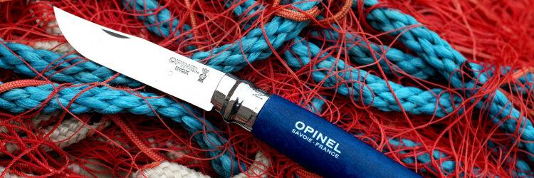 Нож Opinel №8 Trekking, нержавеющая сталь, синий, с чехлом