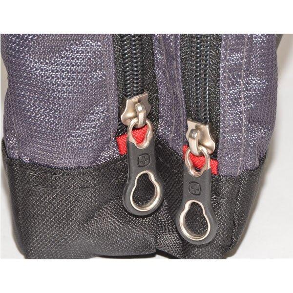 Сумка Wenger Vertical Boarding Bag, дорожная, для документов, черный/серый (1092238)