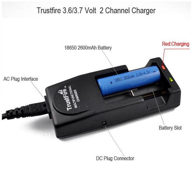 Зарядное устройство 2x18650, 16340 TrustFire TR-001
