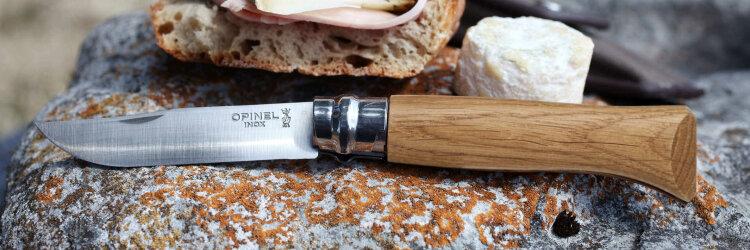 Нож Opinel №8, нержавеющая сталь, дубовая рукоять