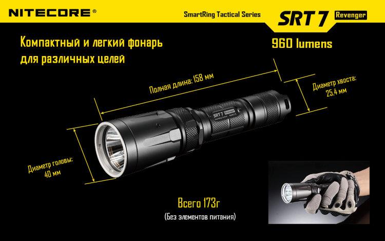 Комплект для охоты Nitecore SRT7 Hunting Kit Cree XM-L U2