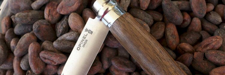 Нож Opinel №8, нержавеющая сталь, ореховая рукоять