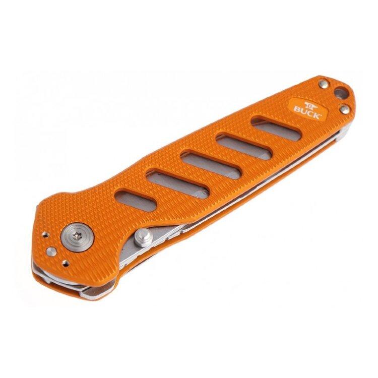 Нож Buck Alpha Crosslock Folding (зеленый, оранжевый)