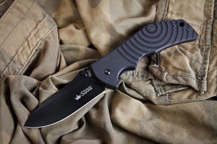 Нож Kizlyar Supreme Bloke X AUS-8 Black Titanium