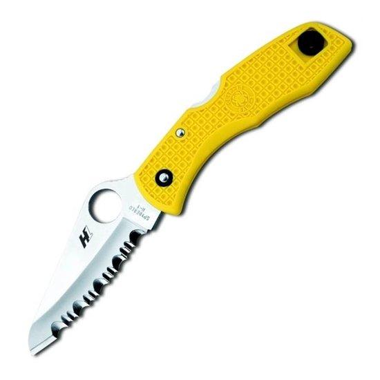 Складной нож Spyderco Salt 1 88S (желтый, черный)