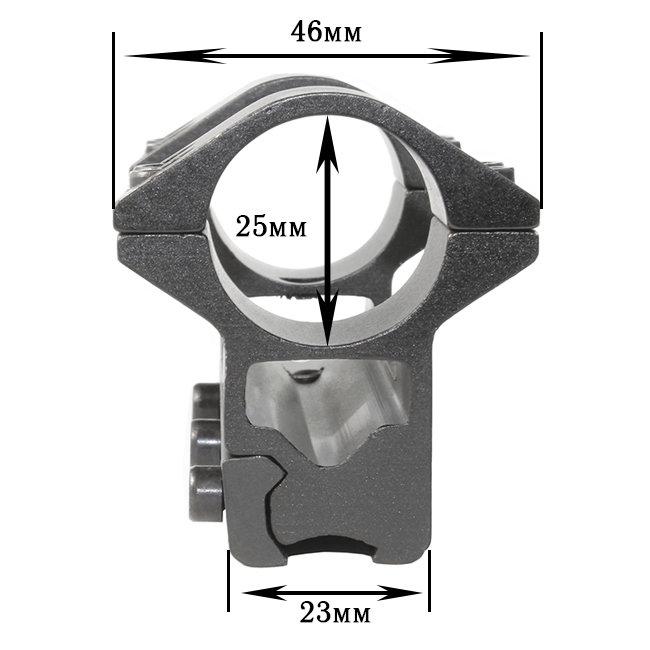 Крепление на оружие для фонаря 2x25mm Ring (планка Вивера 10 мм)
