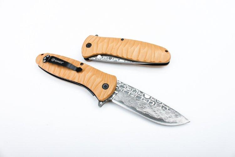 Нож Ganzo G622-DY-2, коричневый